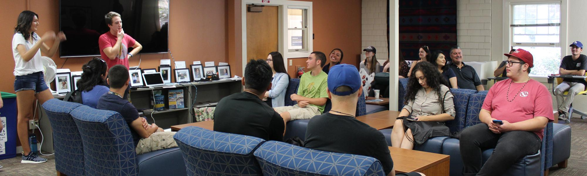 Student gathering in the Native American Academic Student Success Center